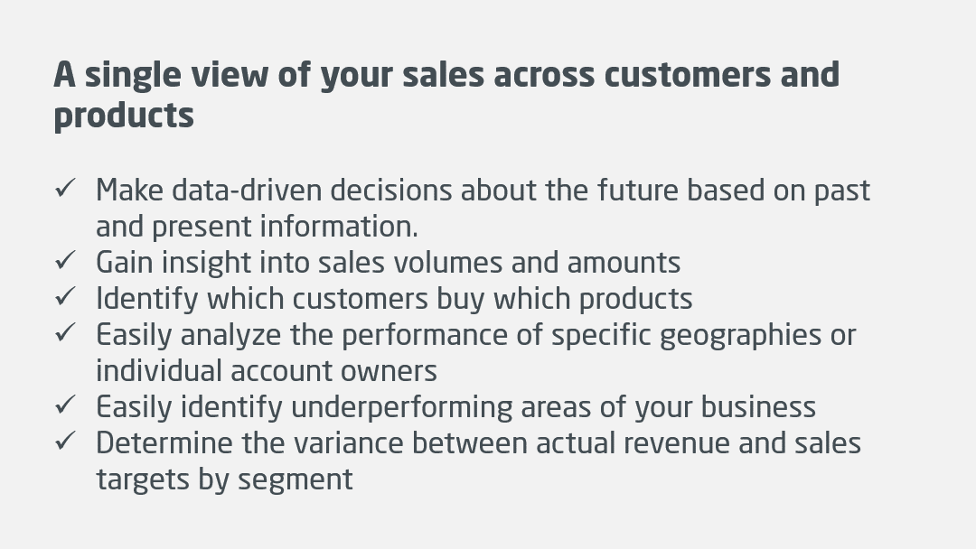 Sales Insight benefits